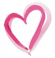 Painted heart shape vector