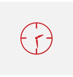 red clock icon vector image