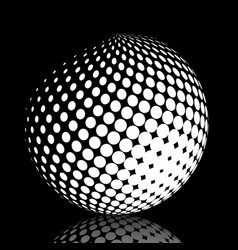 Set abstract halftone 3d spheres 21 vector