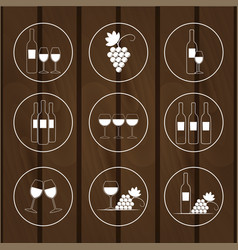 set of icons for wine shops vector image
