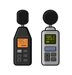 Sound Level Meter Set on White Background vector image