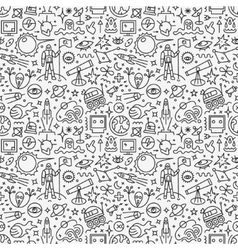 space - seamless pattern vector image vector image