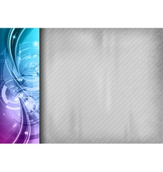 tech background line left blue vector image
