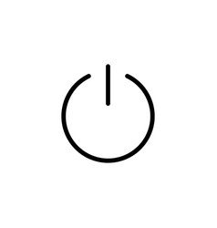 thin line power switch icon vector image