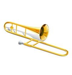 trombone instrument vector image vector image