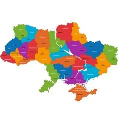 Ukraine map vector image