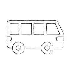 van car transport vehicle motor wheel vector image vector image