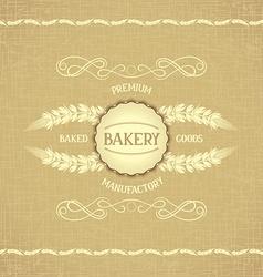 Vintage design for decoration bakery vector