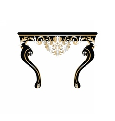 Vintage rich baroque table vector
