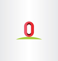Letter o zero 0 number logo icon symbol element vector