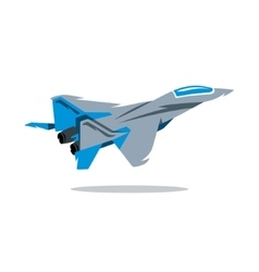 Russian fighter plane cartoon vector
