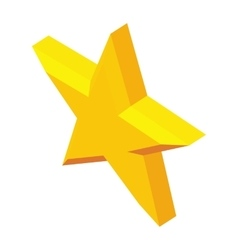 Five-pointed star icon isometric 3d style vector