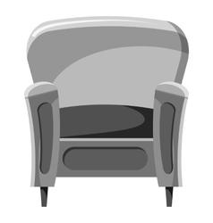 Armchair icon gray monochrome style vector