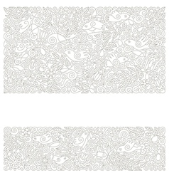 Hand draw ornate floral pattern vector