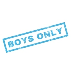 Boys only rubber stamp vector