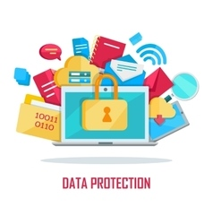 Data protection banner vector