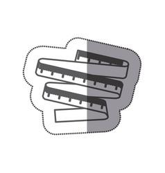 figure measuring tape icon vector image