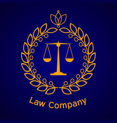 Law firm justice scale vector