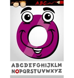 funny letter o cartoon vector image