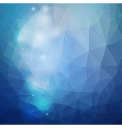 Abstract blue background triangle design vector