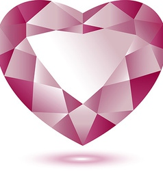Heart Shape gem vector image