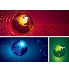 Three globes vector