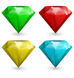 Set of gems vector