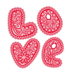 Love lace 380 vector