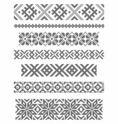 Borders embroidery vector