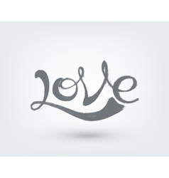 Love text design hand drawn word on white vector