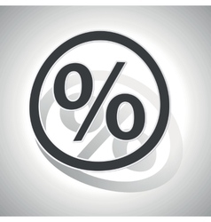 Percent sign sticker curved vector
