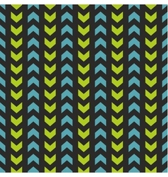 Tile pattern with blue and mint green zig zag vector