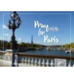 Pray for paris vector