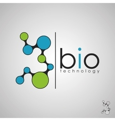 Bio technology bio logo biology design bio vector
