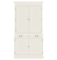 White vintage cabinet vector