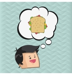 Sandwich design healthy food concept menu icon vector