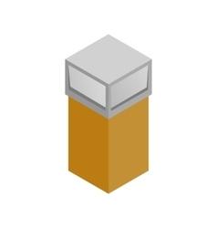 Recycle bin icon isometric 3d style vector