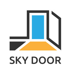 abstract door to sky vector image vector image
