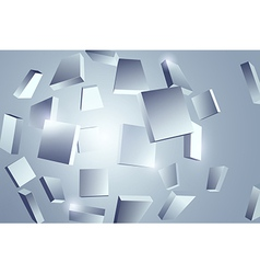 Abstract object fragments vector