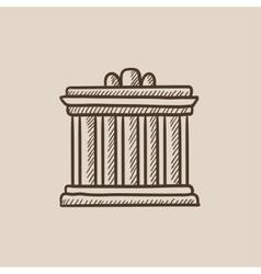Acropolis of Athens sketch icon vector image vector image