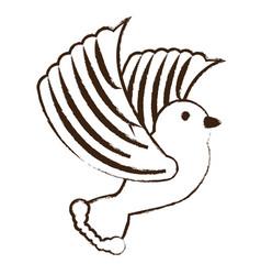 cartoon dove icon vector image vector image