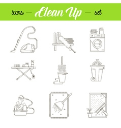 Cleaning house icons set vector image vector image