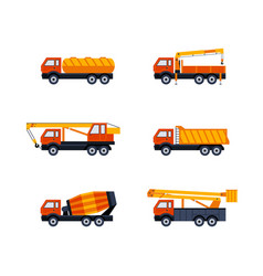 Construction vehicles - modern flat design vector