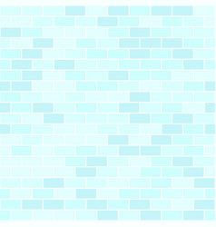 Cyan brick wall pattern seamless background vector