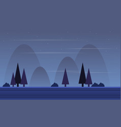 Design scenery at night game background vector