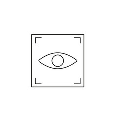 Eye scan icon vector