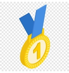 First place medal isometric icon vector