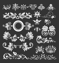 floral vintage decorative elements vector image vector image