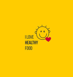 Food symbol with smile and love vector
