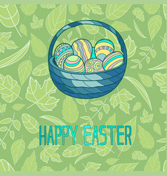 for easter holiday with the vector image